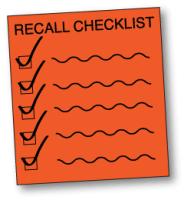 product recall checklist